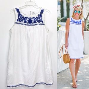 J. Crew Factory Floral Embroidered Shift Dress M